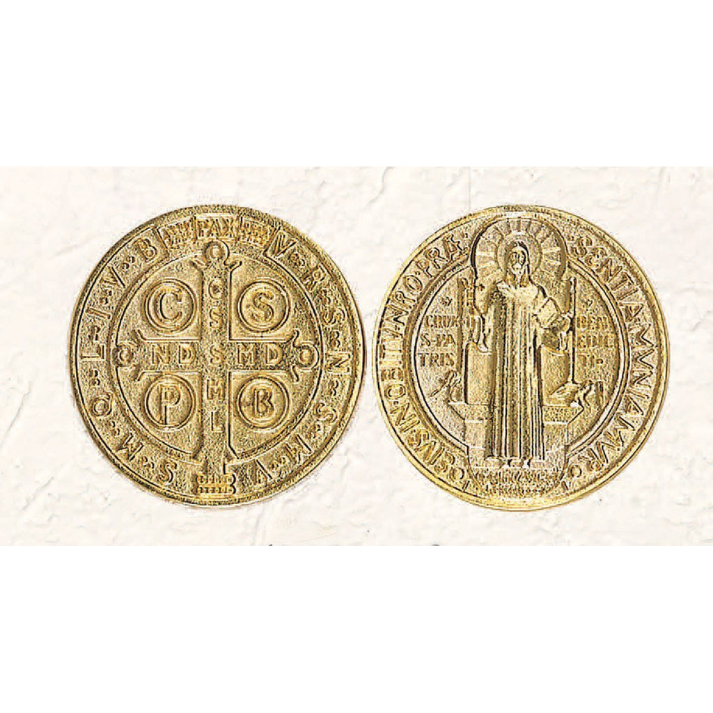 Gold Tone Token - St Benedict - Pack of 25