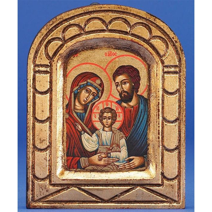 Holy Family - Arched Gold Leaf
