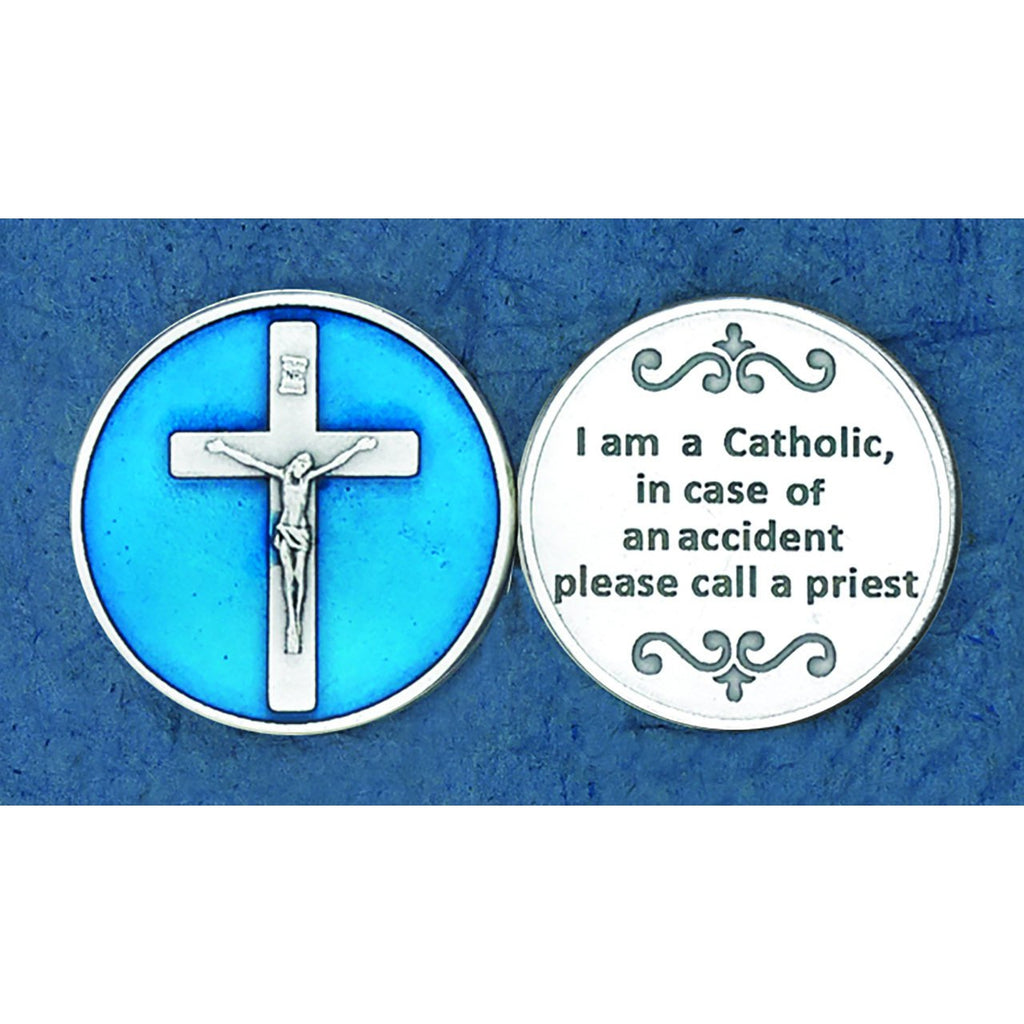 Enameled Token - I am a Catholic - Pack of 25
