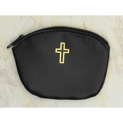 Zipper Rosary Pouch - Black -  Pack of 12