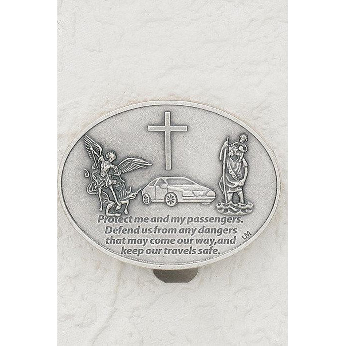 St. Michael and St. Christopher- Visor Clip - Pack of 3