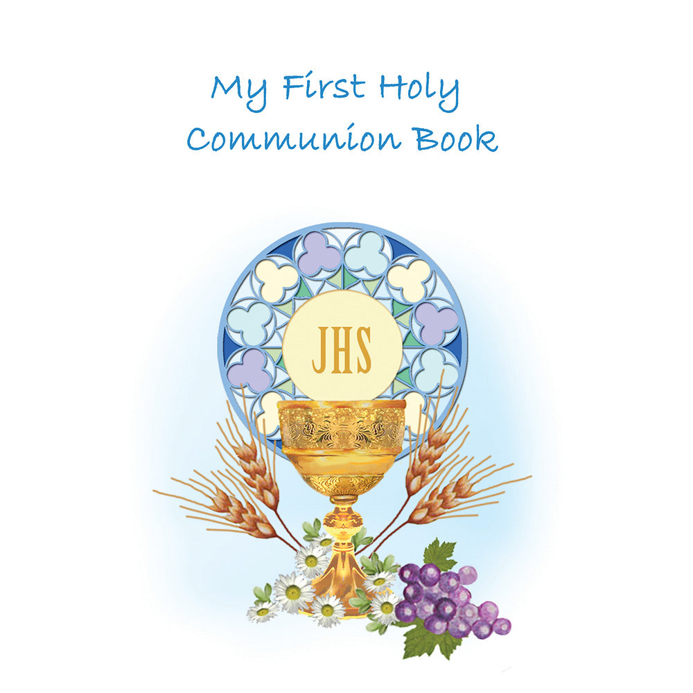 My First Communion Rosary Book- Blue