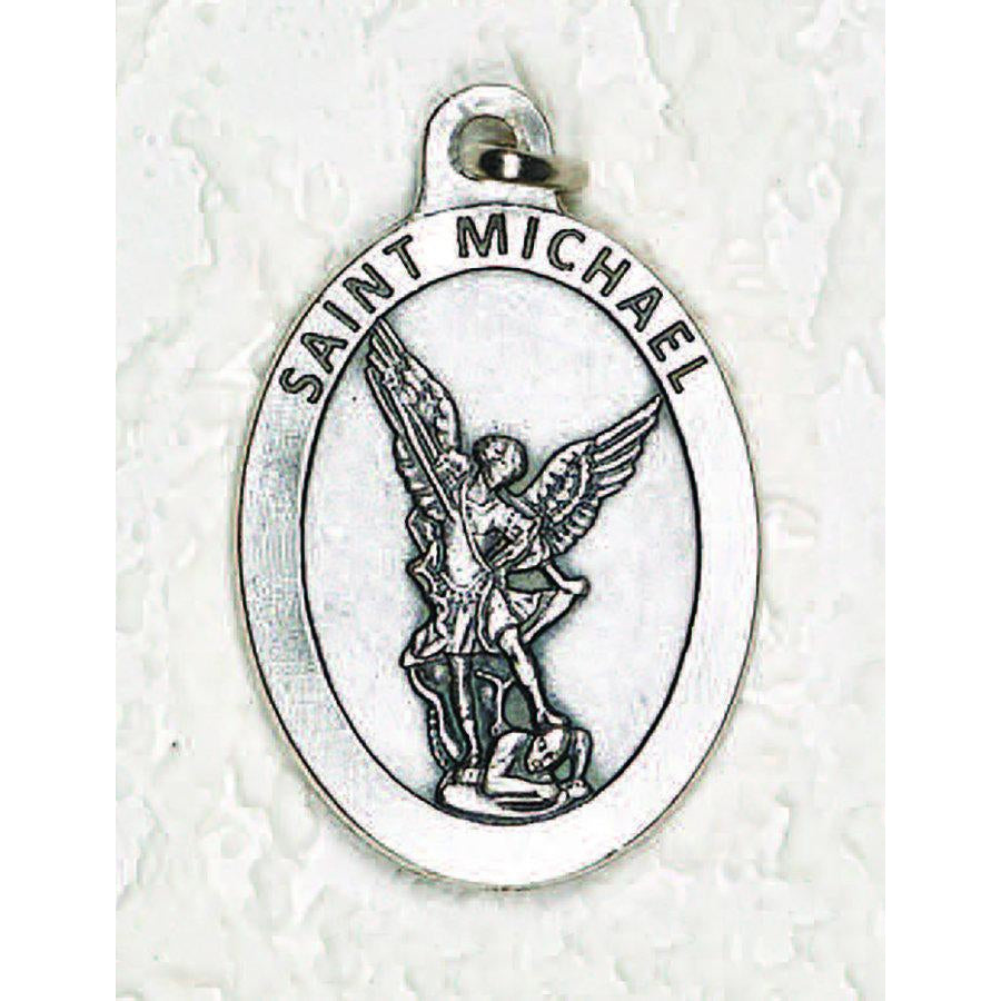 Saint Michael Double Sided Medal - 1-1/2 Inch - 4 Options