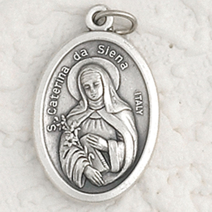 St. Catherine of Siena Pray for Us Medal - 4 Options