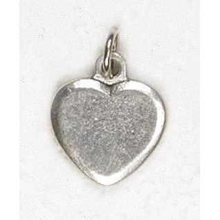 Silver Tone Heart Charm - 4 Options