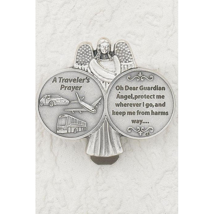 Travelers Prayer-l Visor Clip - Pack of 3