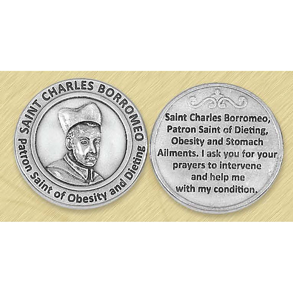 Healing Saint - St Charles Borromeo Pocket Token
