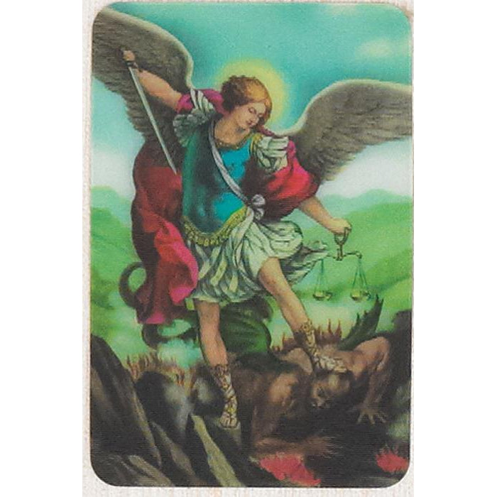 Saint Michael - Holographic 3D Cards - Pack of 25