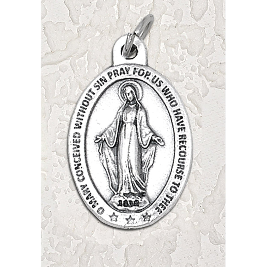 Miraculous Mary Double Sided Medal - 1-1/2 Inch - 4 Options