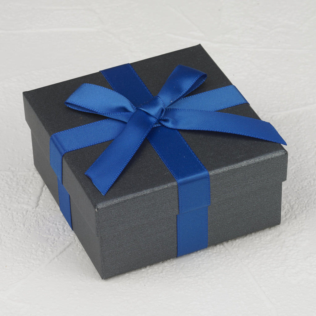 Gray Box with Ribbon - Pack of 12