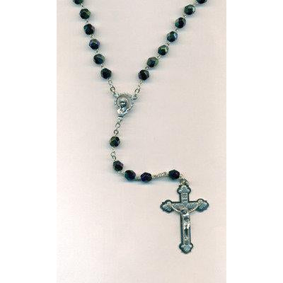 Black Crystal Mary Rosary