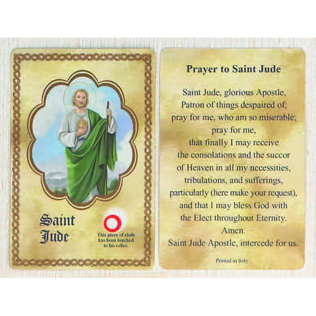 Saint Jude Relic Card - Pack of 25