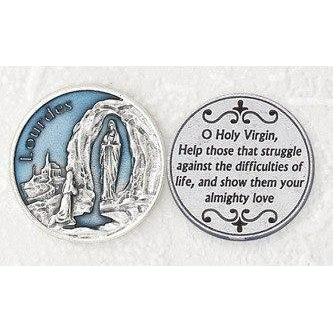 Enameled Token - Lady of Lourdes - Pack of 25