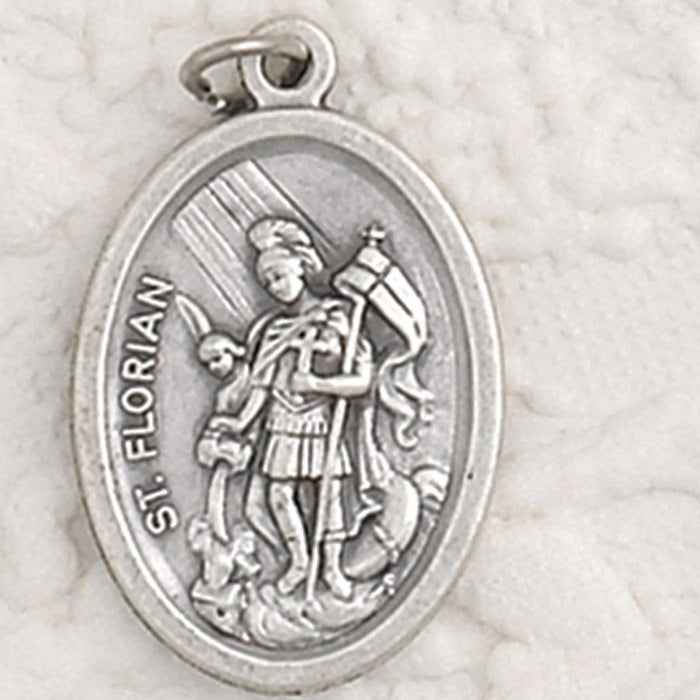 St. Florian Pray for Us Medal - 4 Options