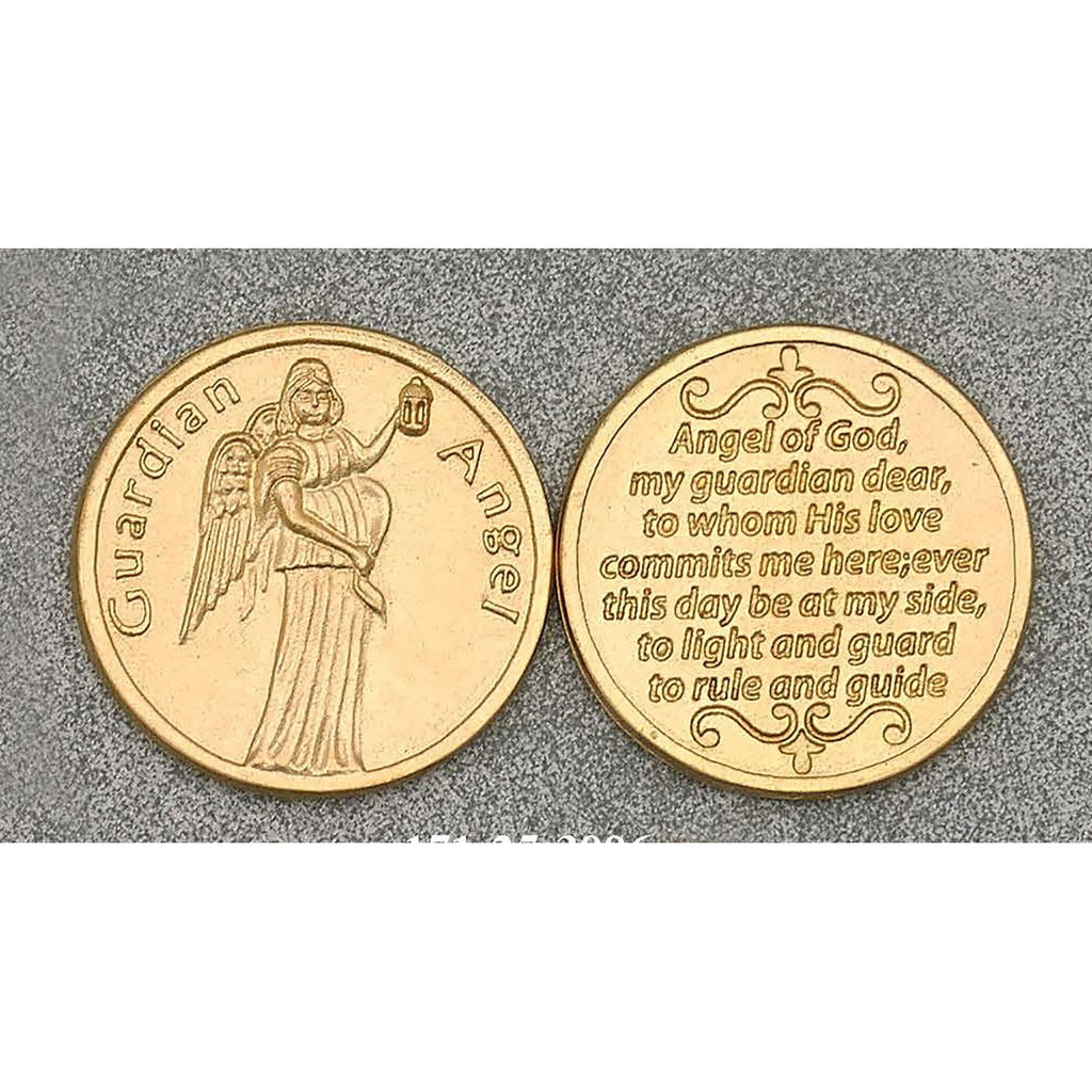 Gold Tone Token - Guardian Angel