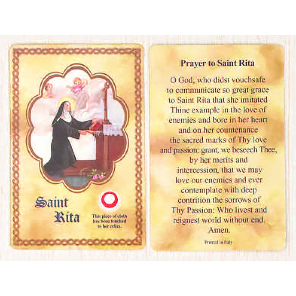 Saint Rita Relic Card - Pack of 25