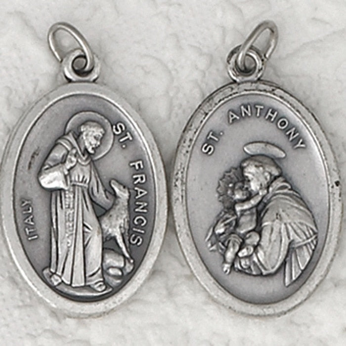 St. Francis / St. Anthony Double Sided Medal - 4 Options