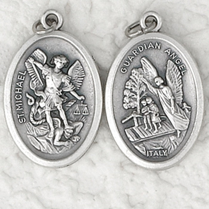 Guardian Angel / St. Michael Double Sided Medal - 4 Options