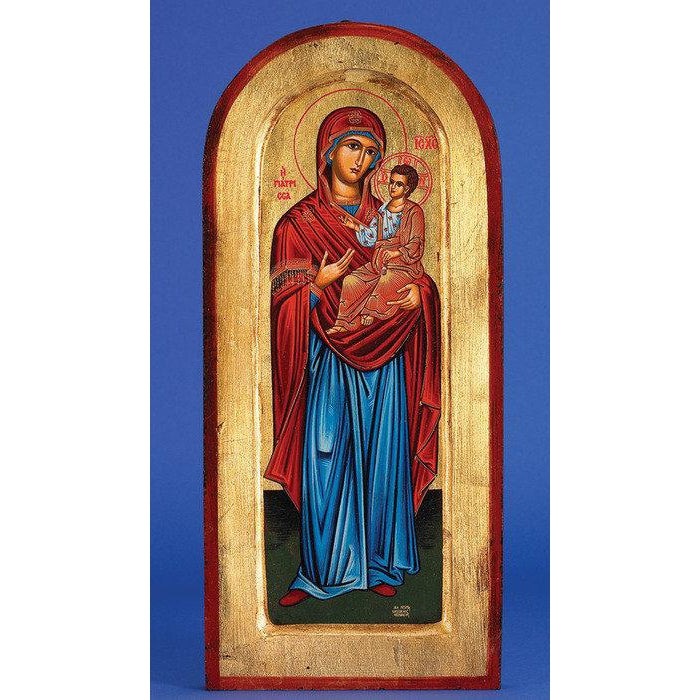 Mary with Jesus - Arched Gold Leaf