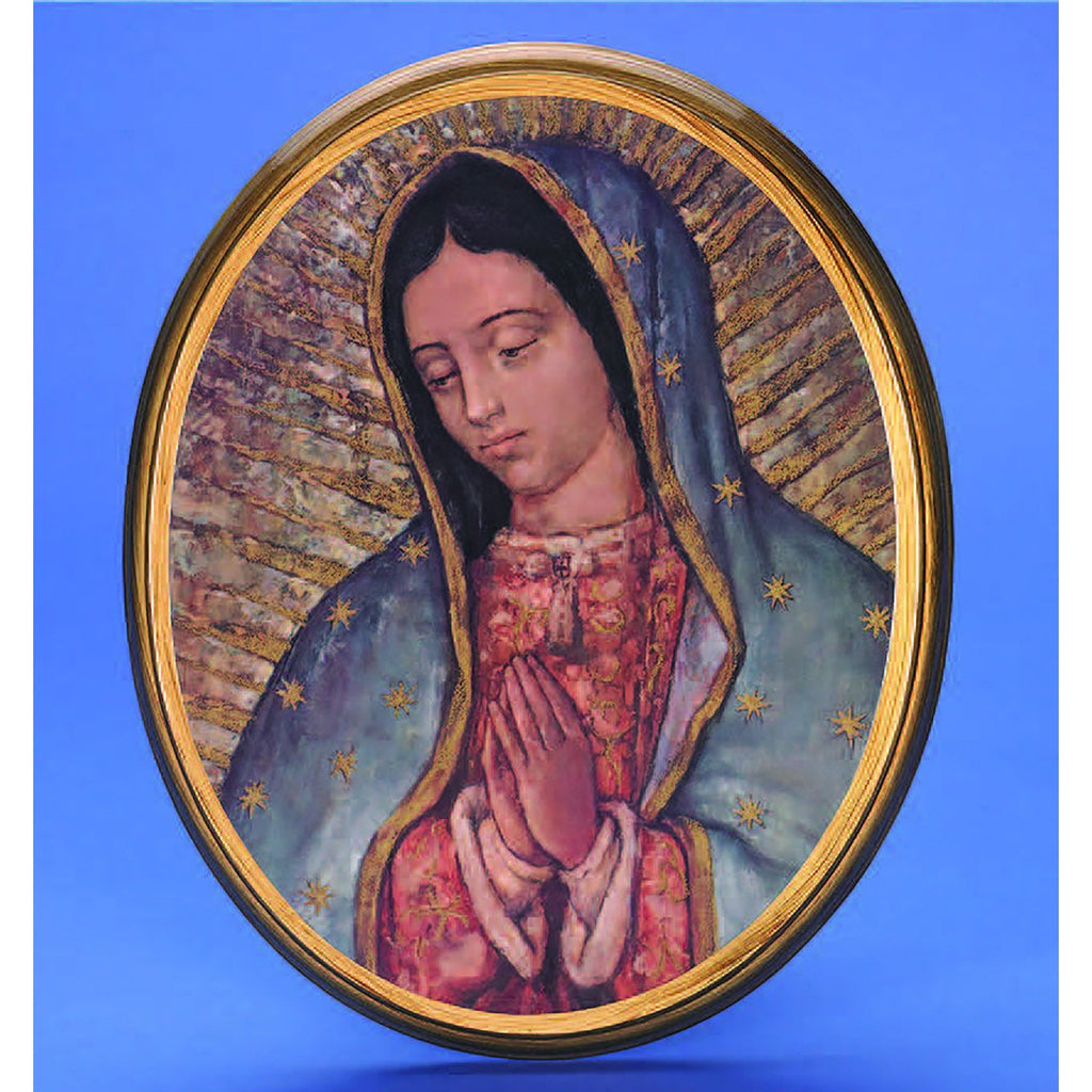 Oval Picture Lady of Guadalupe - 2 Sizes