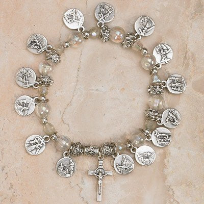 14 Stations of the Cross - Italian Charm Bracelet - Pack of 4