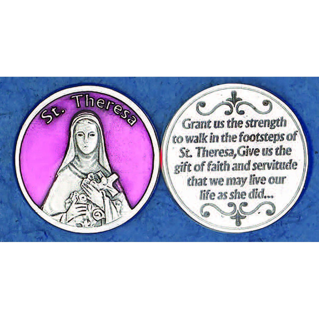 Enameled Token - St Therese - Pack of 25
