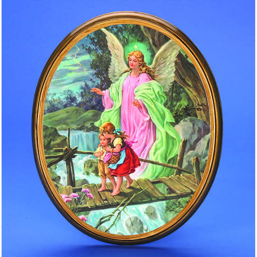 Oval Picture Guardian Angel - 2 Sizes