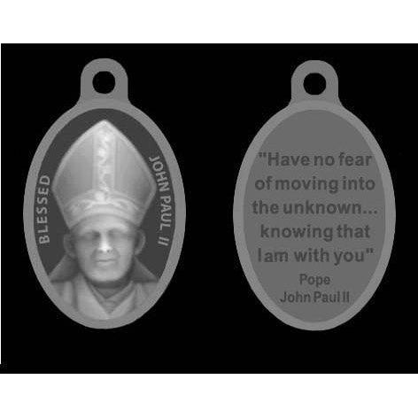 Blessed Saint John Paul II Oxidized Medal with Quote on back. -[Pack of 25]
