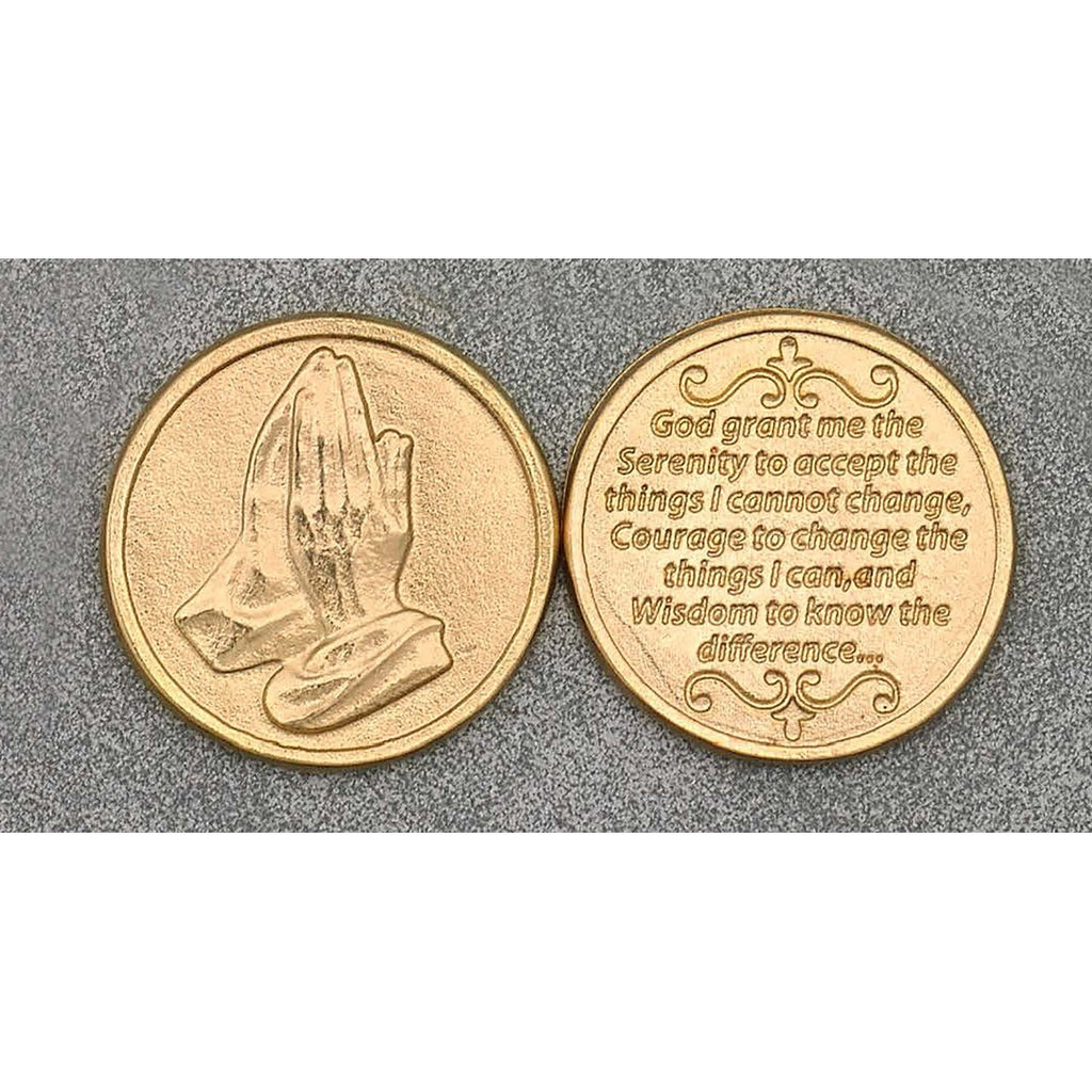 Gold Tone Token - Serenity Prayer