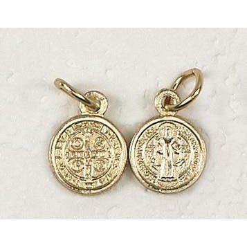 Saint Benedict Gold Tone Bracelet Medal - Pack of 50
