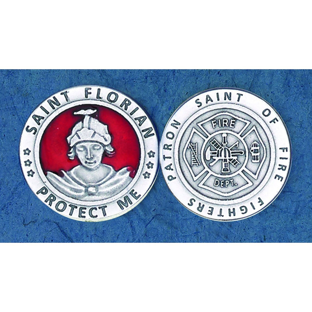 Enameled Token - Saint Florian - Pack of 25