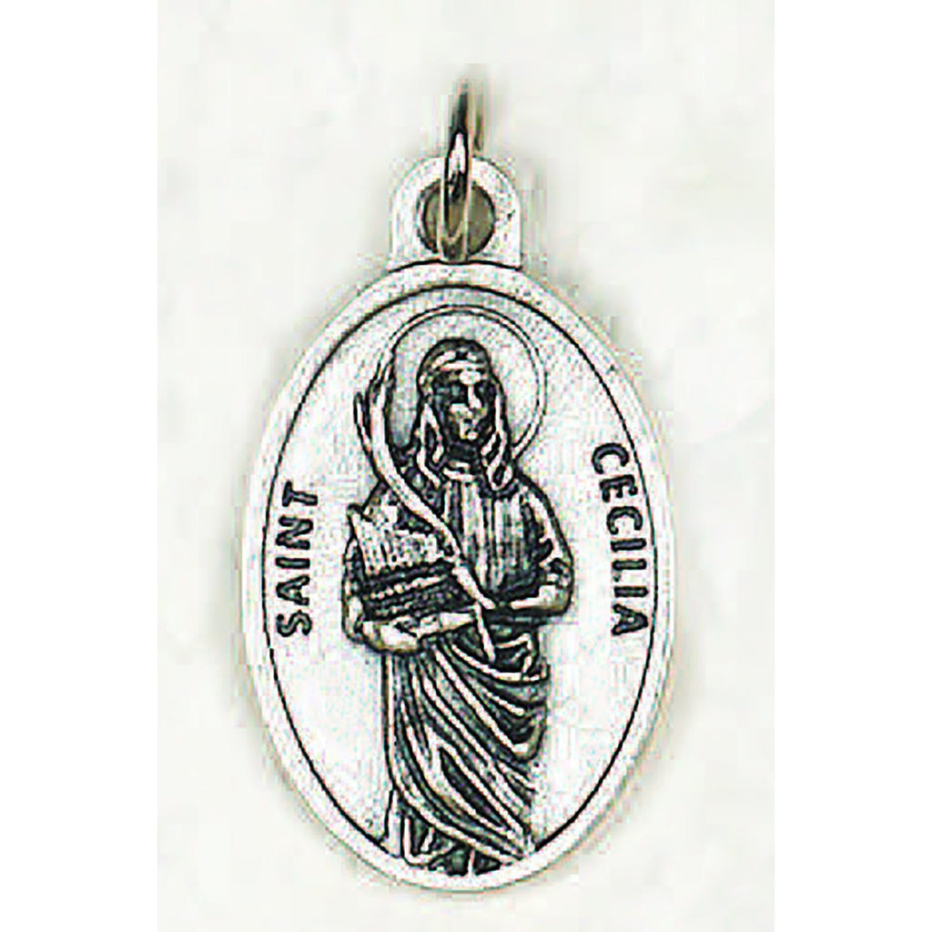 Saint Cecilia Pray for Us Medal - 4 Options