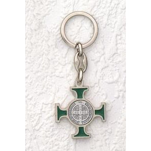 "Saint Benedict Key Ring 1 1/2""  (Various Colors) Pack of 6"