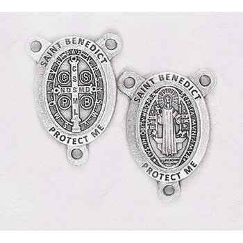 Saint Benedict  Premium Rosary Center - Pack of 25