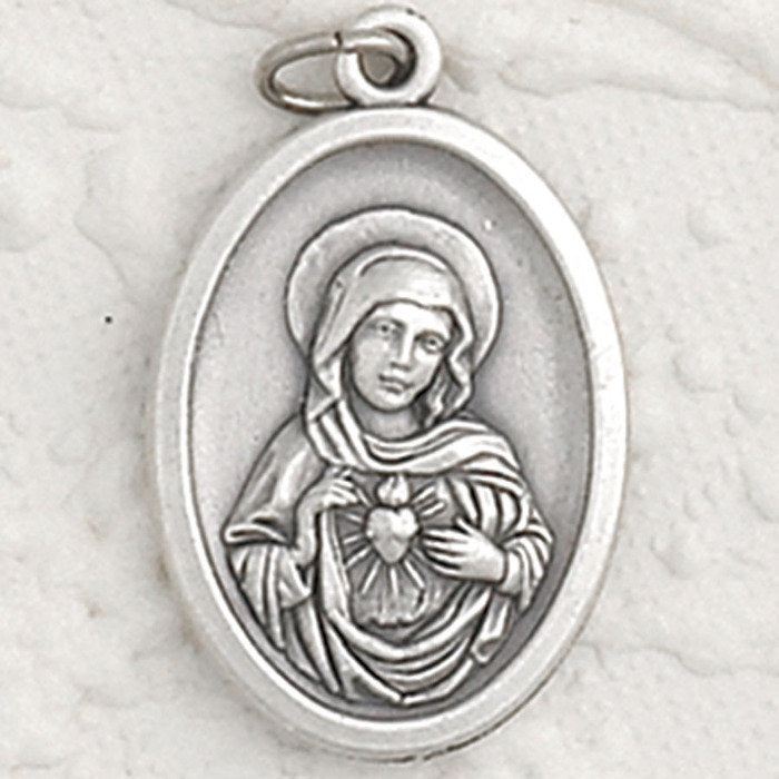 Immaculate Heart of Mary Pray for Us Medal - 4 Options