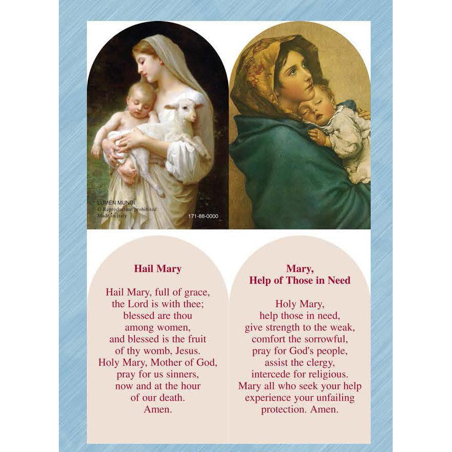 Innocence / Madonna of Way -  Arched Folding PVC Prayer Card - Pack of 25
