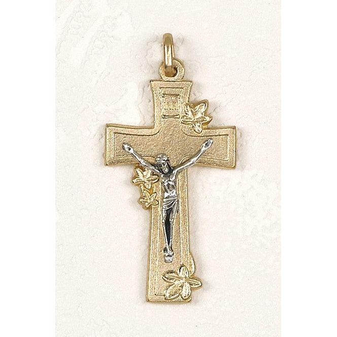 Gold Tone Lily Cross - 4 Options