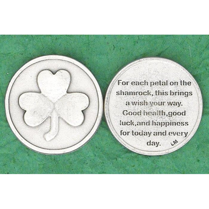 Irish token - For each petal on the shamrock - Pack of 25