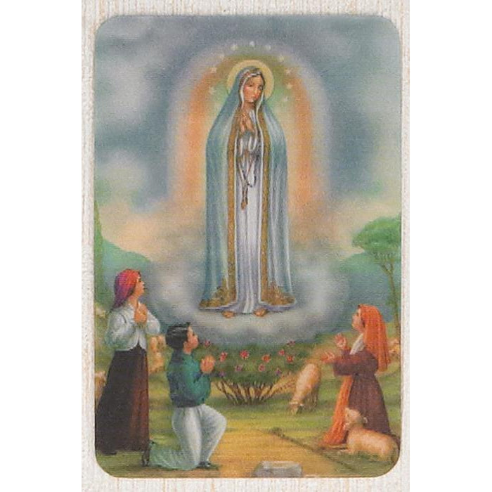 Lady of Fatima - Holographic 3D Cards - Pack of 25