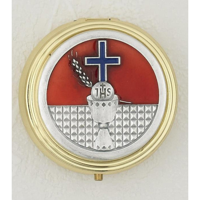 Holy Communion - Pyx - Red/Blue Enamel