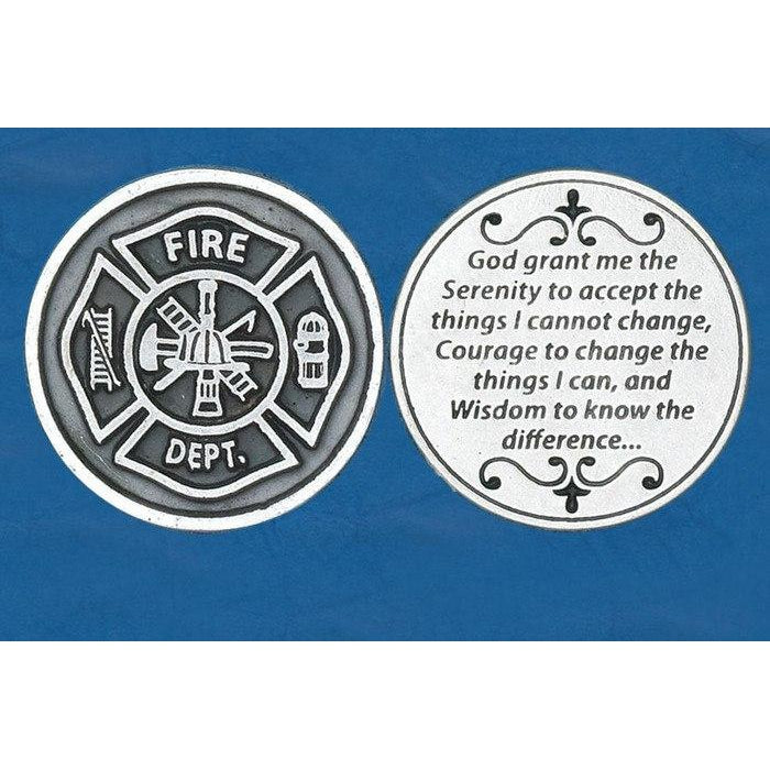 Christian Token - Serenity Prayer - Fire Dep't