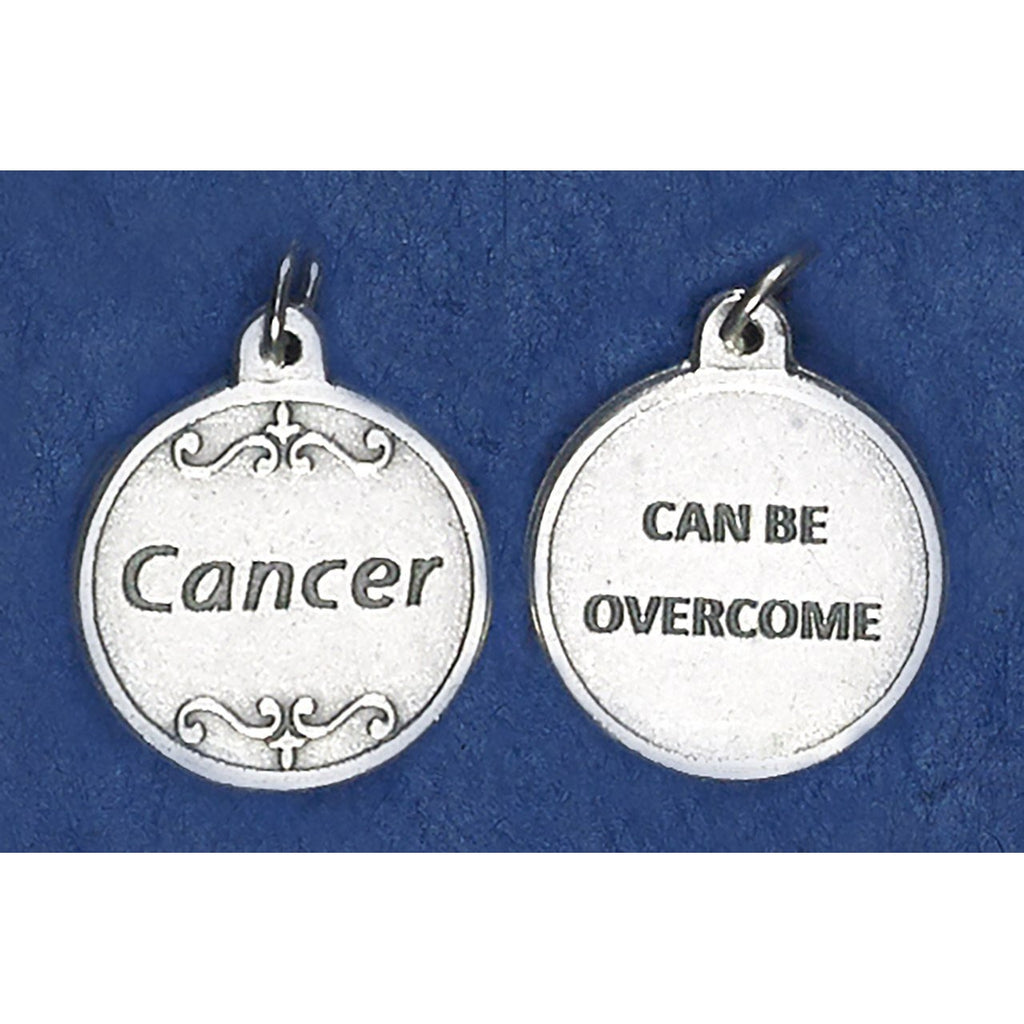 Silver tone Cancer Double Sided Medal - 4 Options