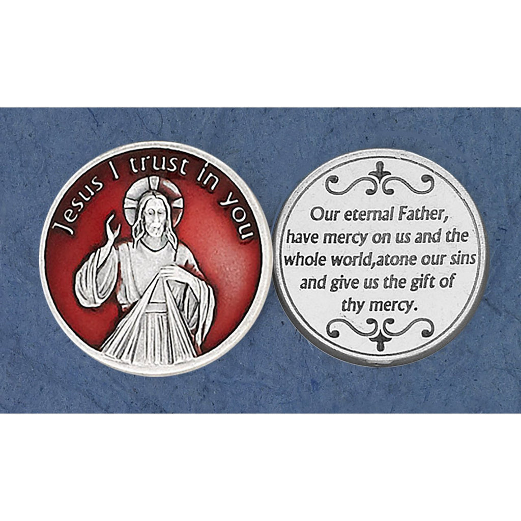 Enameled Token - Divine Mercy - Pack of 25