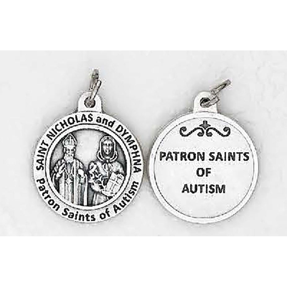 Healing Saints - St Dymphna and St Nicholas Medal - 4 Options