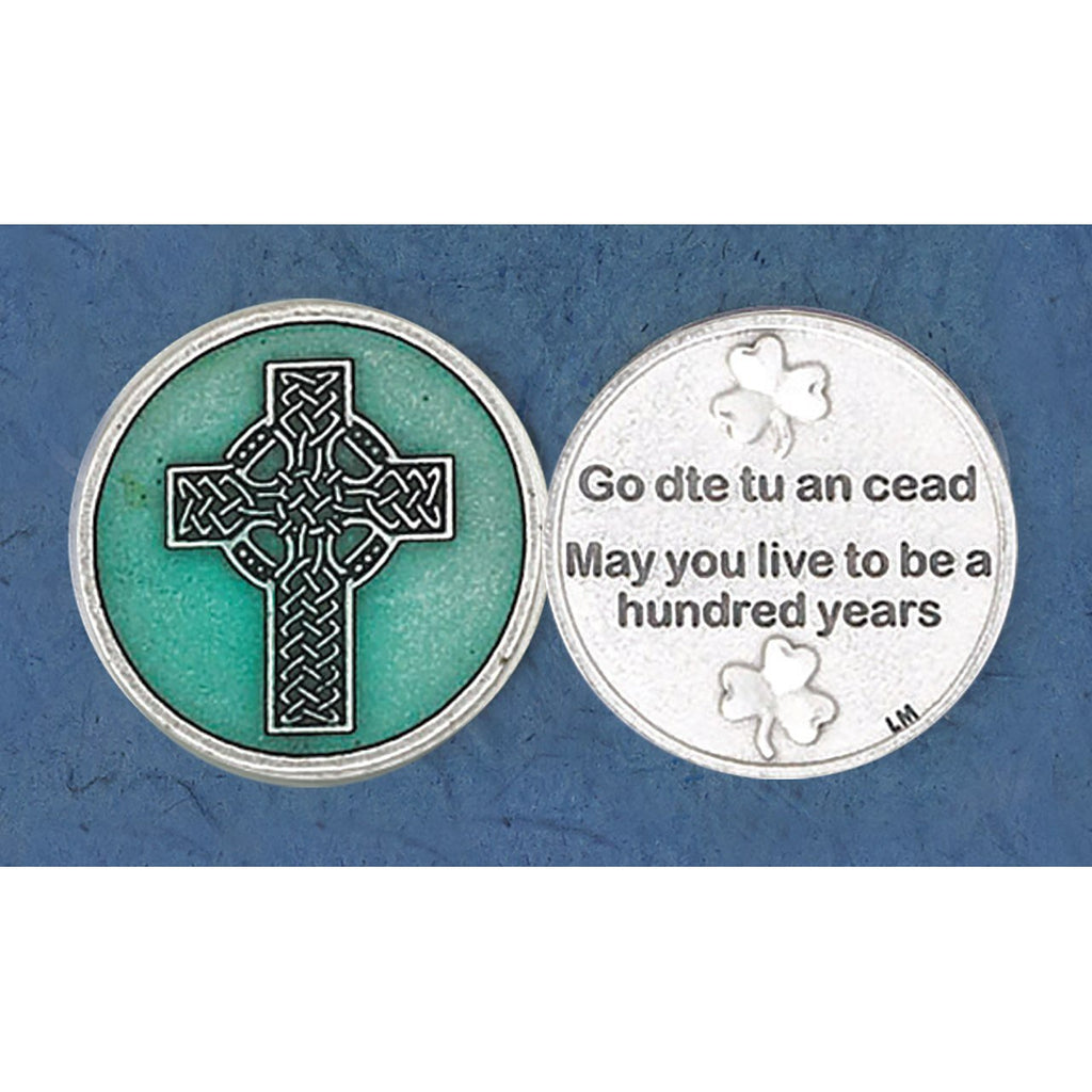 Enameled Token - Celtic Cross - Pack of 25