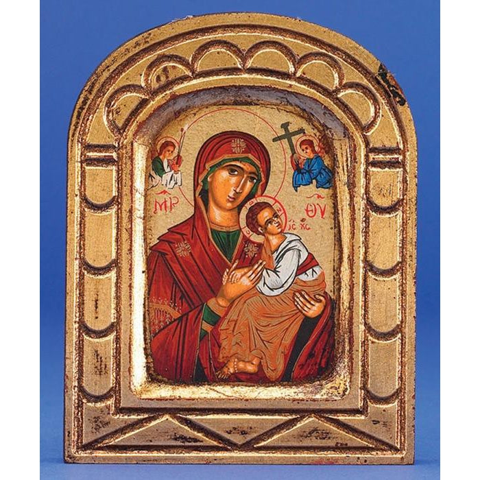 Lady of Perpetual Help Arched Gold Leaf
