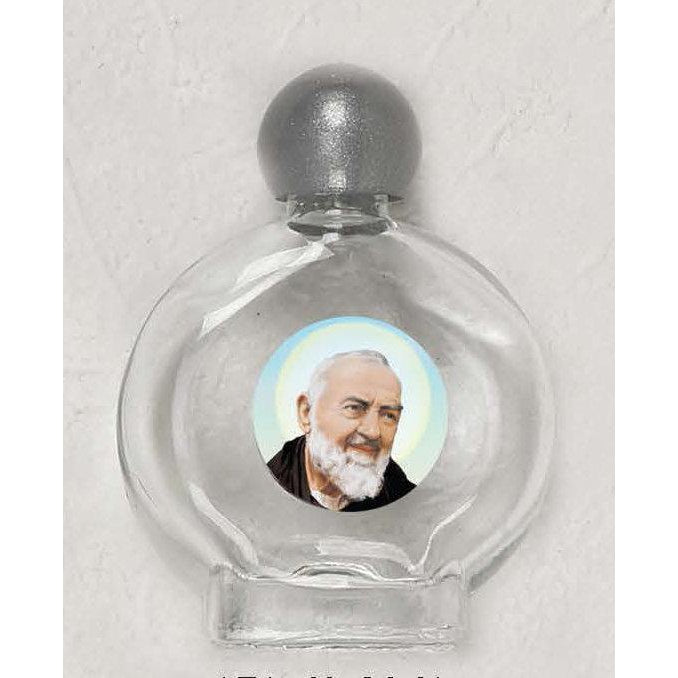 Saint Padre Pio Holy Water Bottle - Pack of 12