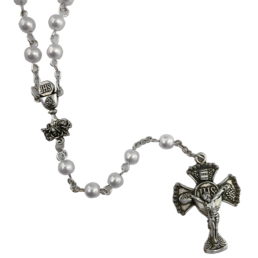 Deluxe Communion Rosary - Deluxe Crucifix