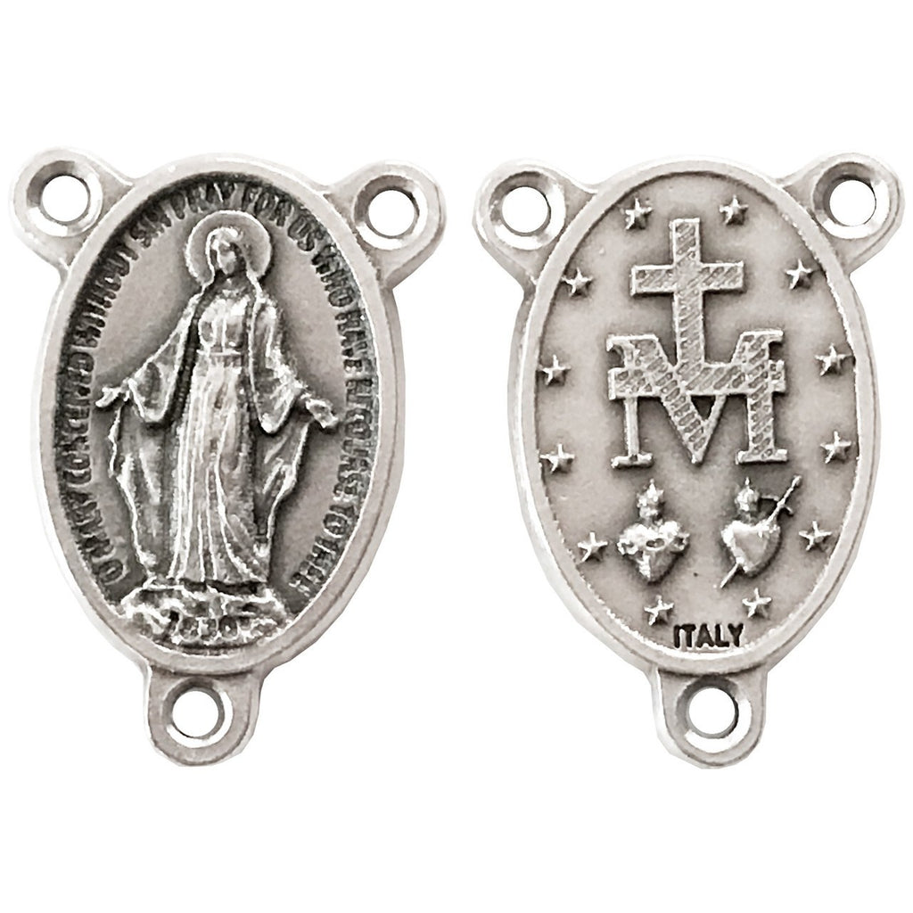 Miraculous Medal Rosary Center - Pack of 25