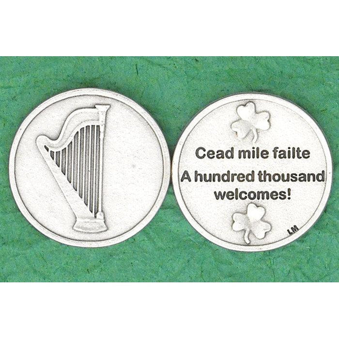 Irish token - A Hundred Thousand Welcomes - Pack of 25